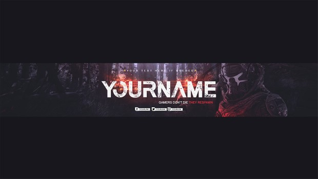 NEW!! Youtube banner for Gaming Channels 2017 │By LastZAK