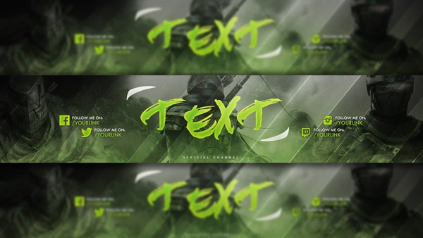 Green Gaming Youtube Banner free to use by LastZAK