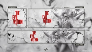 'The Evil Within 2' Social Revamp/Rebrand PSD Template 2017│by LastZAK