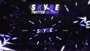 'SKYBE' Twitter Header PSD Template by LastZAK