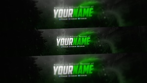 Gaming Youtube Banner PSD Template