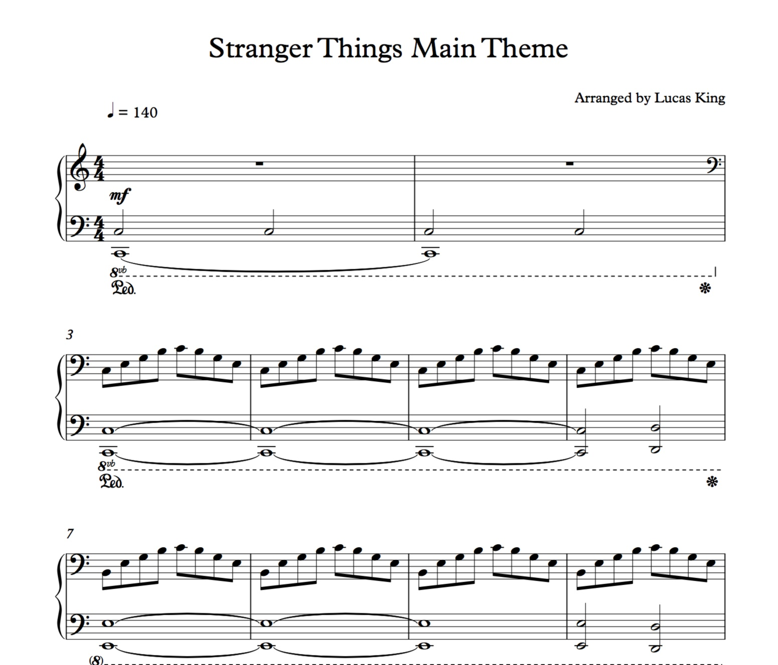 Sheet Music For Imperial March On Piano: Stranger Things Piano Sheet