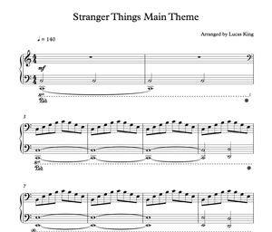 Stranger Things Piano Sheet