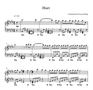 Lucas King - Hurt Sheet Music