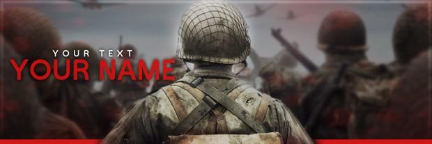 COD WW2 Twitter Template