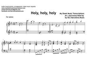 Holy, Holy, Holy (Reginald Heber) Sheet Music
