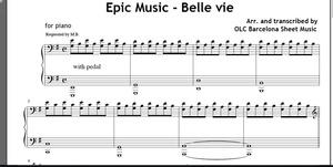 Epic Music (Belle Vie) Sheet music (.pdf)