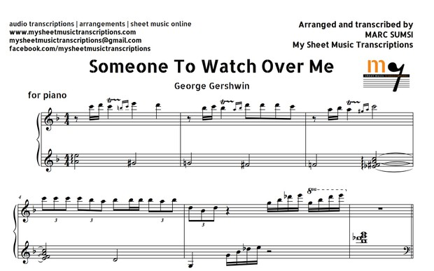 Someone To Watch Over Me (George Gershwin) Sheet Music