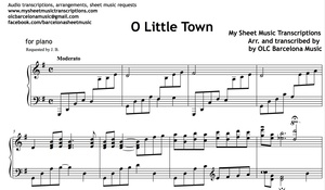 O Little Town of Bethlehem (Christmas Carol) Sheet Music