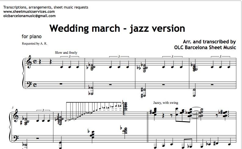 Jazz Sheet Music Hunthankk