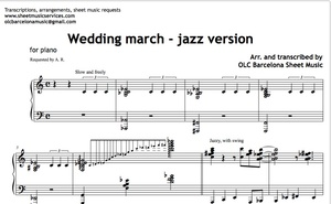 Wedding March (Jazz version) Sheet Music