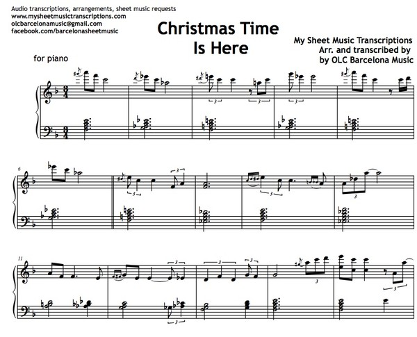 Christmas Time is Here (Lee Mendelson & Vince Guaraldi) Sheet Music