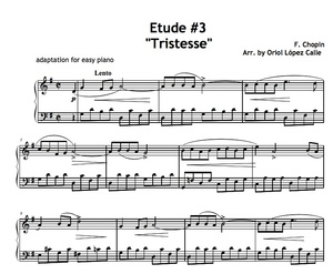 Etude No. 3 Tristesse (Chopin) Sheet music (.pdf)