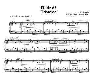 Etude No. 3 Tristesse (Chopin) Sheet music (.pdf)