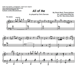 All Of Me (Jazz Standard) Sheet music (.pdf)