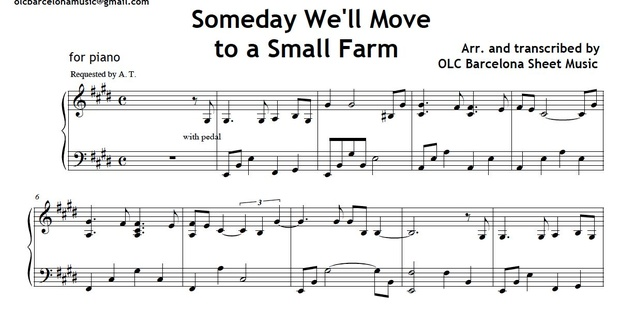 Someday We'll Move to a Small Farm - piano sheet music