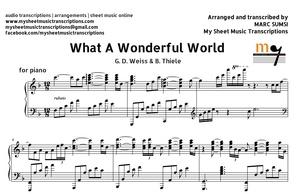 What A Wonderful World (G. D. Weiss & B. Thiele) Sheet Music