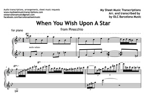 When You Wish Upon A Star (from Pinocchio) Sheet Music