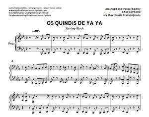 Os Quindis de Ya Ya (Stanley Black) Sheet music (.pdf)