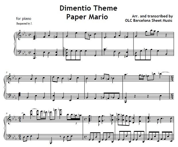 Dimentio Theme (Paper Mario) - piano arrangement