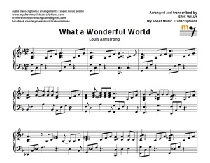 What A Wonderful World Easy Version (Louis Armstrong) Sheet music (.pdf)