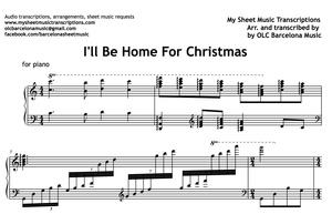 I'll Be Home For Christmas (Bing Crosby) Sheet Music