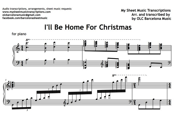 I'll Be Home For Christmas (Bing Crosby) Sheet Music