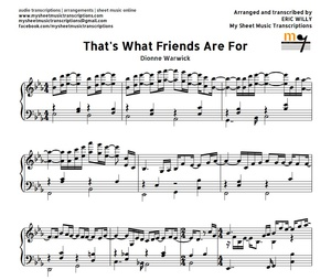 That's What Friends Are For (Dionne Warwick) Sheet music (.pdf)