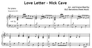 Love Letter (Nick Cave) - piano arrangement