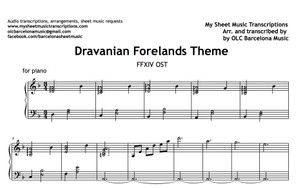 Dravanian Forelands (Final Fantasy Theme) Sheet Music (.pdf)