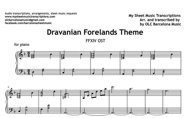 Dravanian Forelands (Final Fantasy Theme) Sheet Music (.pdf)