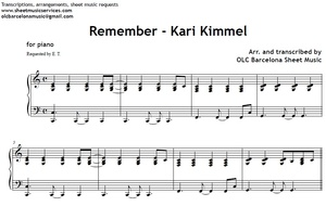 Remember (Kari Kimmel) - piano sheet