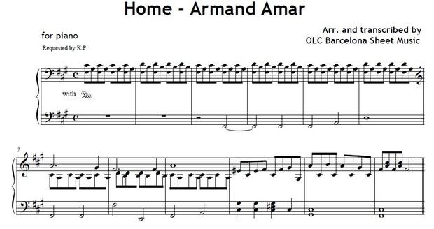 HOME (Armand Amar) from La Jeune Fille Et Les Loups - piano arrangement