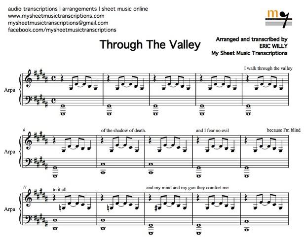 Through the Valley (Shawn James) Sheet music (.pdf)