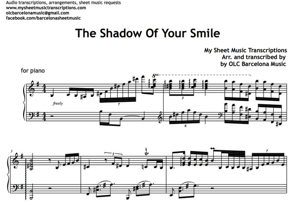The Shadow Of Your Smile (Love Theme from The Sandpiper)