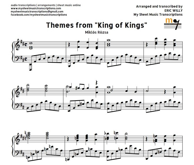 Themes from King of Kings (Miklós Rózsa) Sheet music (.pdf)