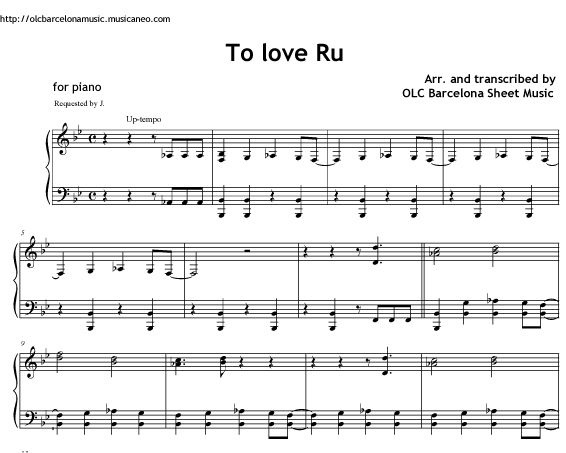 Forever we can make it (To love Ru theme) - sheet music for piano