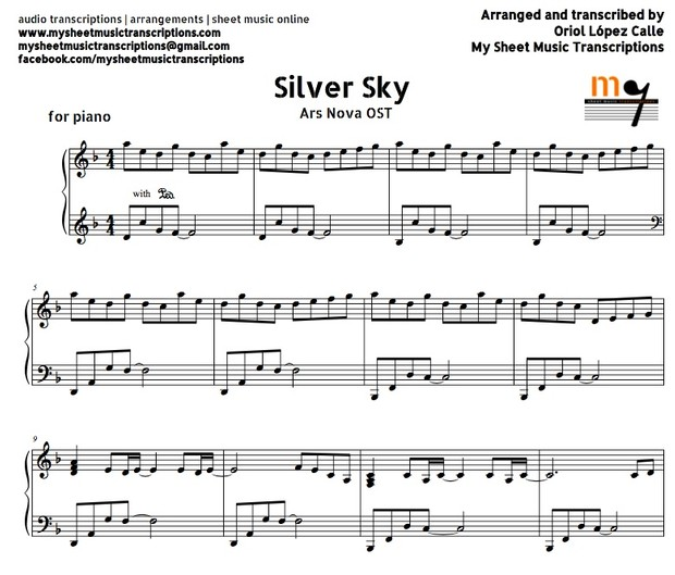 Silver Sky (Ars Nova OST) Sheet music (.pdf)