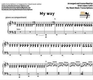My Way (Frank Sinatra Accompaniment) Sheet music (.pdf)
