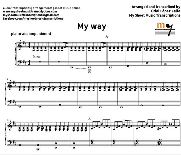 All That Jazz Sheet Music Piano: My Sheet Music Transcriptions