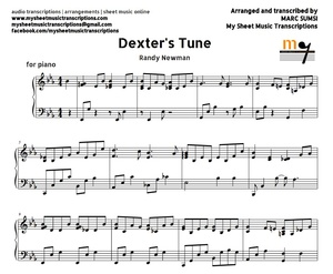 Dexter's Tune (Randy Newman) Sheet music (.pdf)