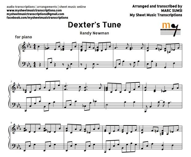Dexter's Tune (Randy Newman) Sheet music (.pdf)