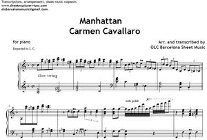 Manhattan (Carmen Cavallero) - piano sheet arrengement