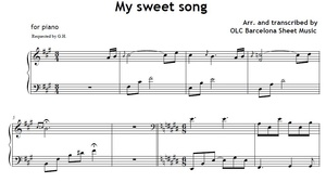 My sweet song - sheet music for piano