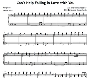 Can't Help Falling in Love with You - sheet music for piano