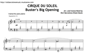 Cirque Du Soleil (Buster's Big Opening) Sheet Music