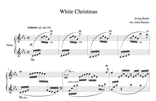White Christmas (John Bayless) Sheet Music
