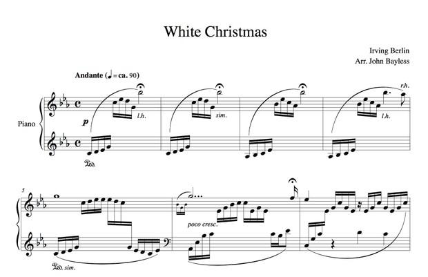 White Christmas (John Bayless) Sheet Music