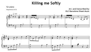 Killing me Softly - piano arrangement