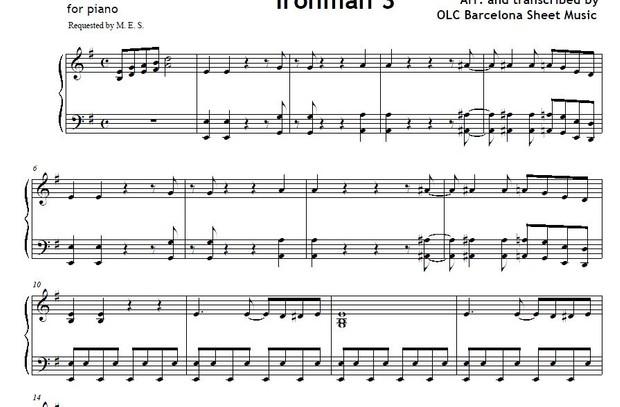 Can you dig it (Ironman 3) piano arrangement sheet music